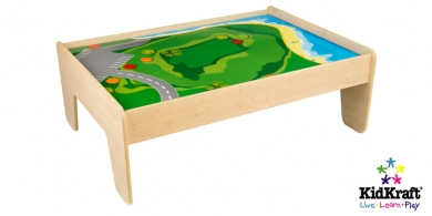 Reversible Natural Wooden Train Table
