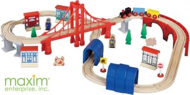 Bridge \u0026 Tunnel Wooden Train Set  sc 1 st  WoodenTracks.com & 60 pcs Wooden Train Set Thomas and Friends Brio compatible