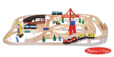 Melissa And Doug 130 Piece Wooden Train Set Brio And Thomas The