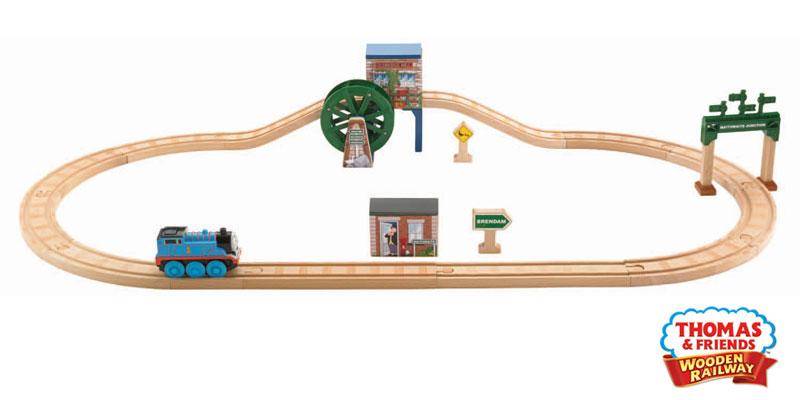 Motorized Thomas The Engine Sodor Train Set Wooden Train Sets